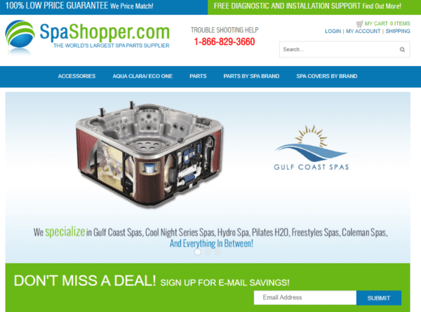 USA / Worldwide - SPA, SPA parts and supplies consumers email list (internal data of spashopper.com) 41.900 Emails