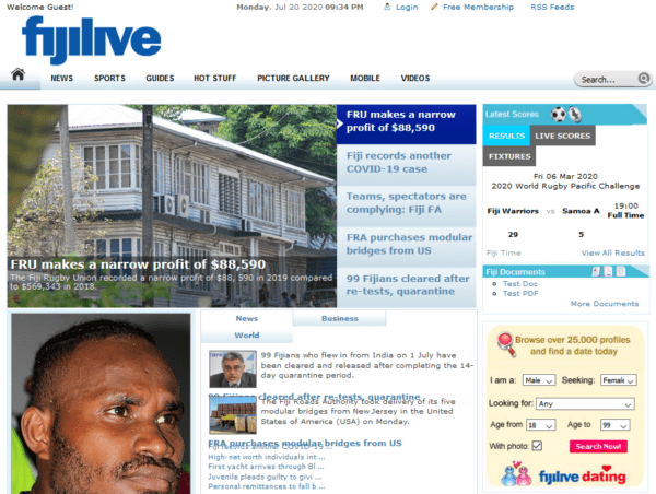 Fiji - News and Popular Portal Subscribers Email list (internal data from fijilive.com) 103.100 Emails