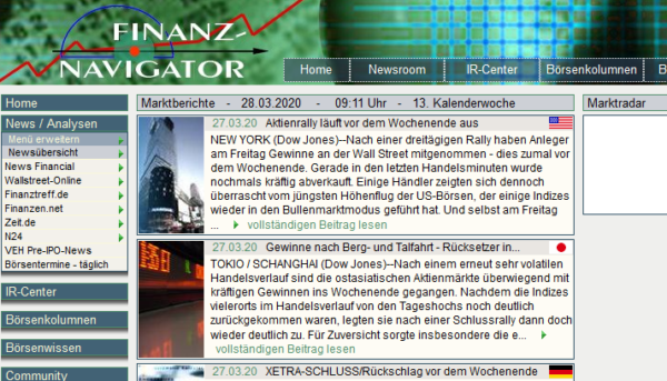 Germany - Stock market, Exchanges, Financial info Email list (subscriber data from http://finanznavigator.de) 3.100 Emails