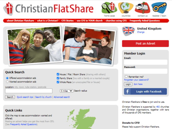 US / Australia / Canada / Ireland / Africa / UK - Christian Flat Share Service Email List (data of christianflatshare.org) 35.000 Emails
