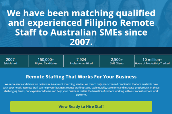 Australia - Hire Remote Staff, Outsource to Philippines Business Customers (actual data of remotestaff.com.au) 69.500 Emails