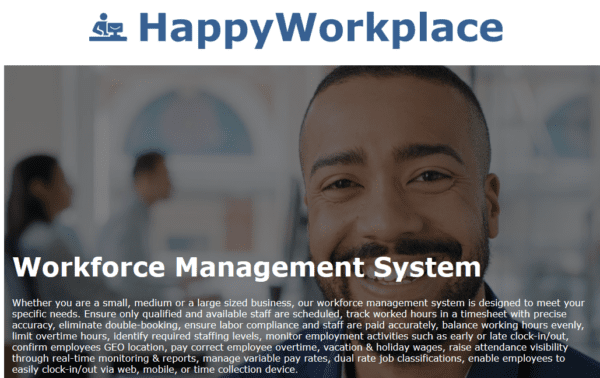 Canada - Workforce Management (all related service) Business Customers Email list (actual data from happyworkplace.com company) 71.200 Emails