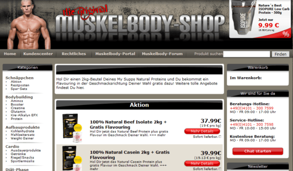 Germany - Muscle & Body / Nutrition / Bodybuilding Shop Customers Email list (internal data from muskelbody-shop.de) 14.600 Emails