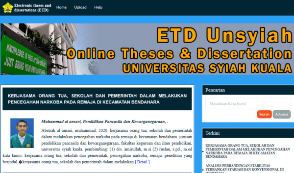 Indonesia - Electronic Theses and Dissertation portal members Email list (internal data from etd.unsyiah.ac.id) 31.400 Emails