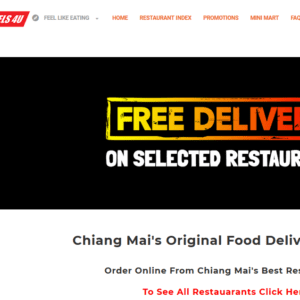 Thailand / Chiang Mai- Food Delivery Customers Email list (internal data from mealsonwheels4u.com) 5.800 Emails