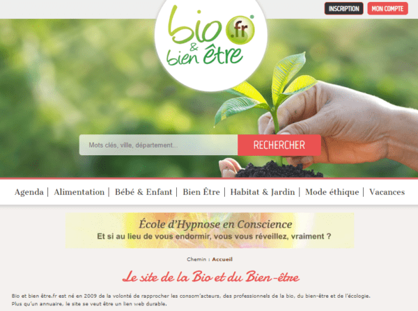 France - Consumers, Professionals in the organic sector, Well-being and Ecology Email List (internal data of bioetbienetre.fr) 12.300 Emails